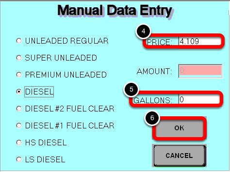 Enter Manual Data