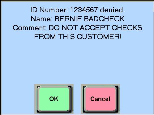 Bad Check