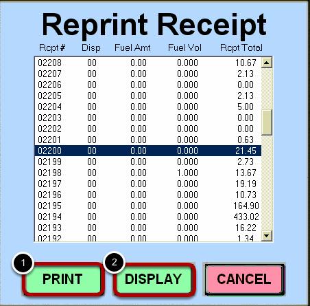 Select Receipt