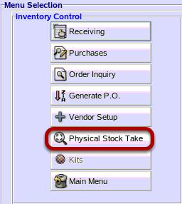 Physical Stock Take