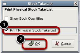 Stock Take List