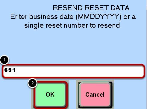 Resend Reset Data