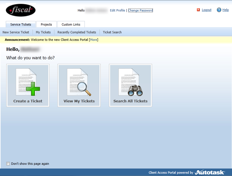 Ready to use the Client Access Portal