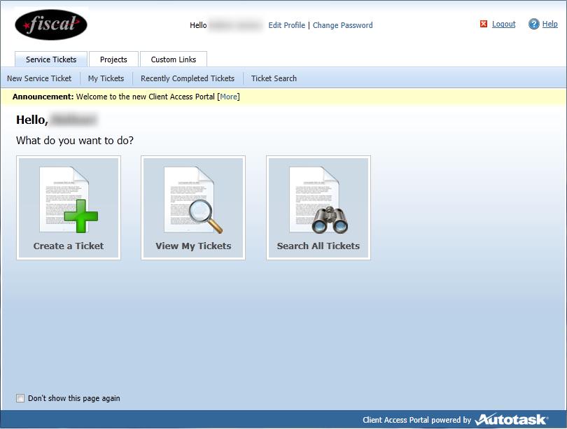 Client Access Portal