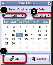 Select Date