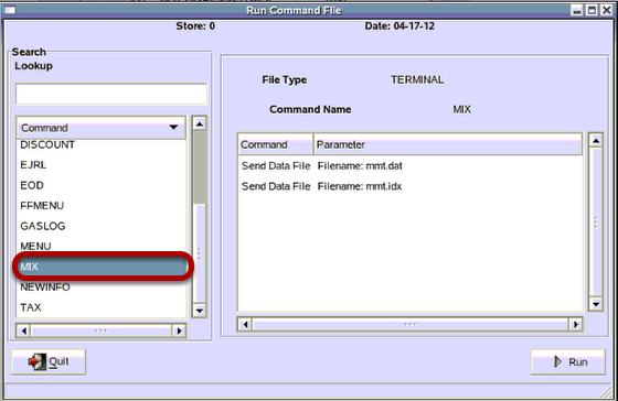 Select MIX command