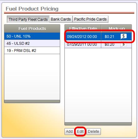 Editing Scheduled Price Change