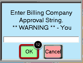 Enter the Approval Code