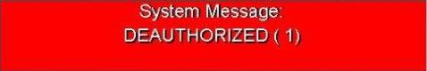 De-Authorized
