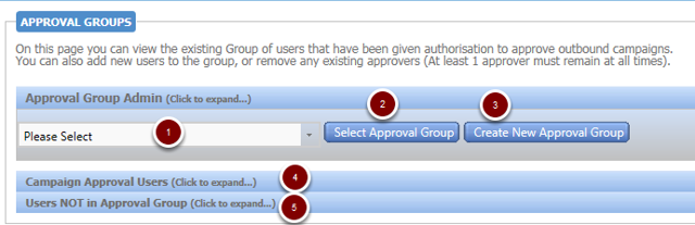 Admin - Manage Approval Groups