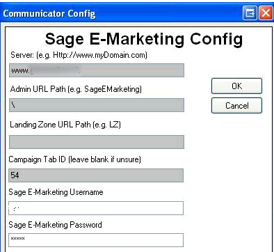 Updating Sage SalesLogix Auto Login Credentials