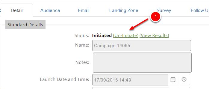 Uninitiating a Campaign