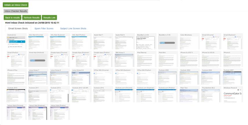 Email Screen Shots