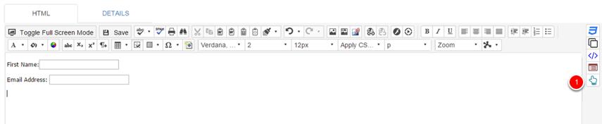 Add web capture submit button
