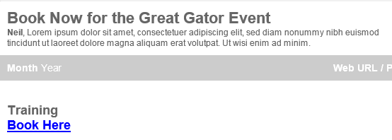 Event Email Link Example