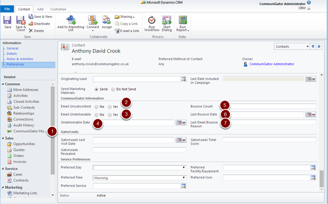 Microsoft Dynamics CRM Contact