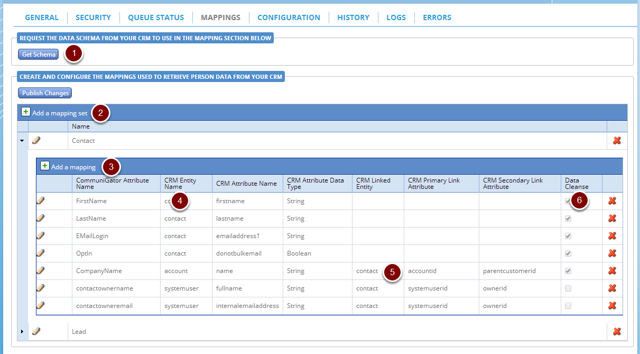 CommuniGator Integration Data Mappings