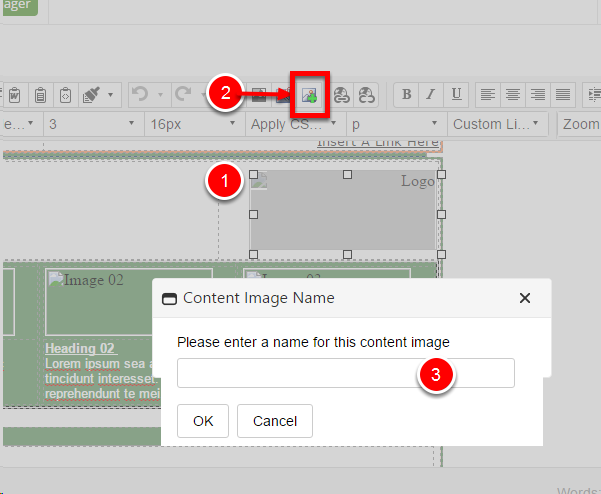 How to set an image as a content image