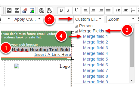 How To Insert a Merge Field