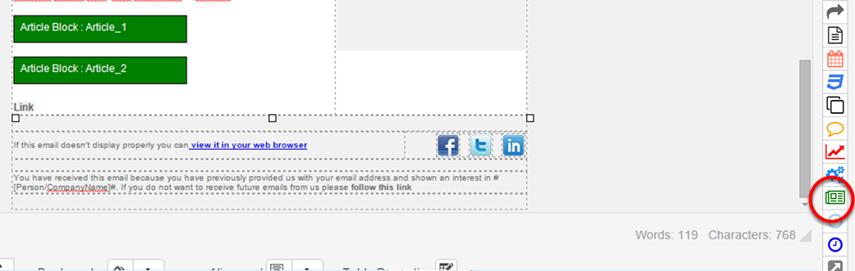 Click 'Insert Article Block'
