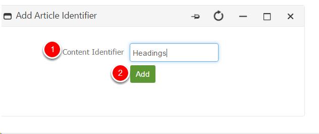 Article Identifier