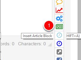Insert Article Block
