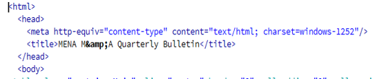 HTML format