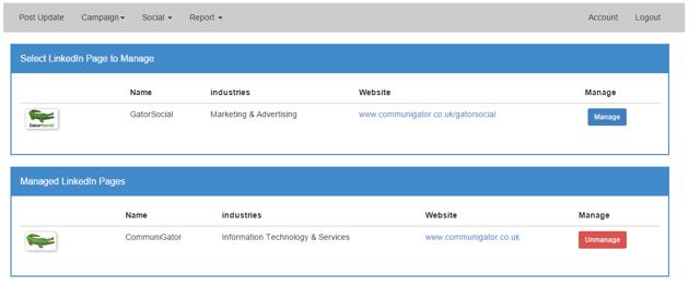 Setup - Link Company Pages