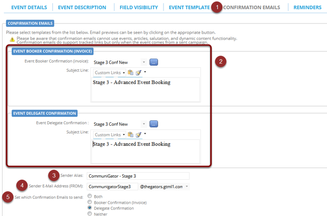 Confirmation Email & Configuration
