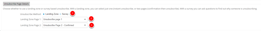 Unsubscribe Page details