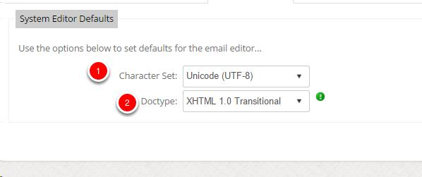 Editor Defaults