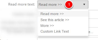 Drop down 'Read more'
