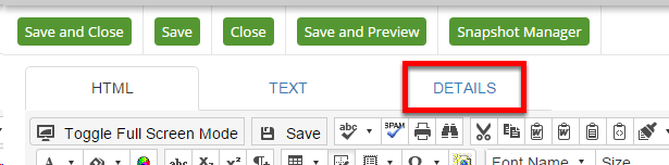 Where to find the Details tab