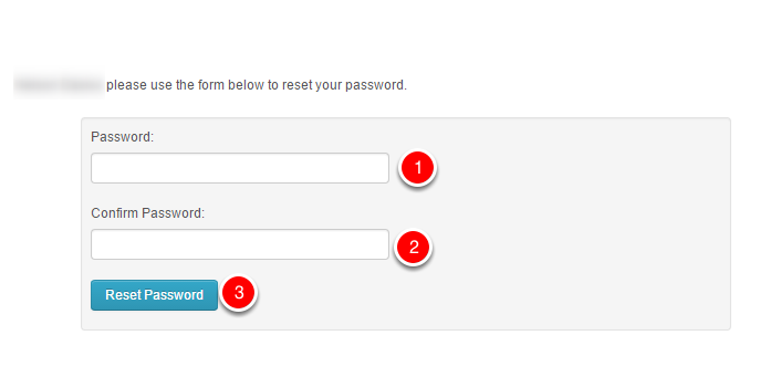 Entering the new password