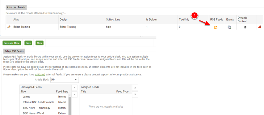 Email and Landing Zone RSS Feeds assign