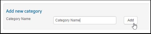 Adding New Categories