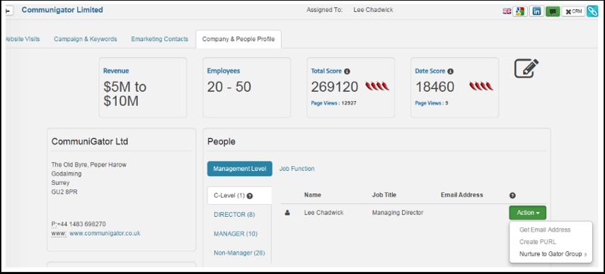 Company & People Profile Tab