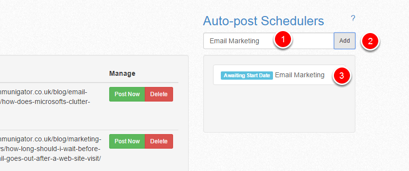 Creating a new Auto Scheduler