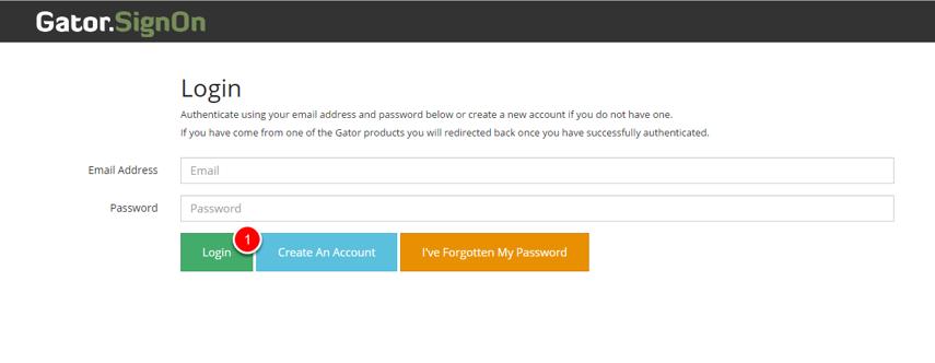 Creating an account