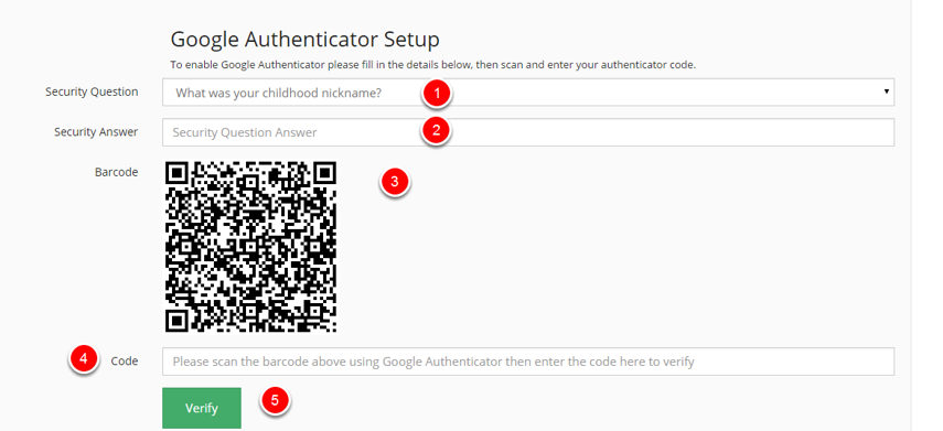 Configure Google Authenticator