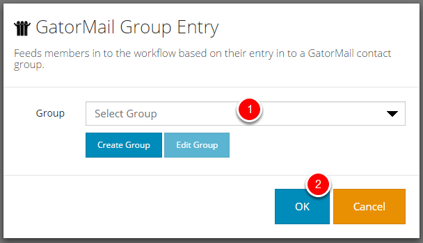 Selecting an existing group