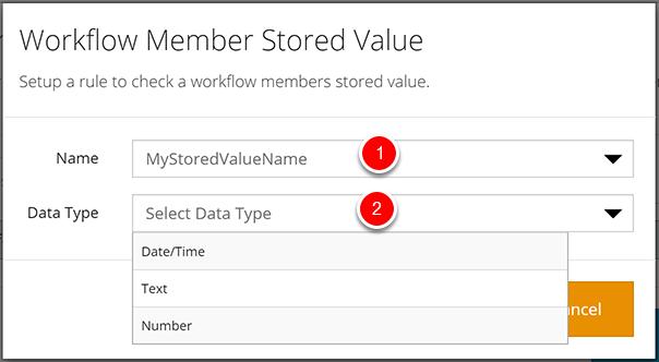 Workflow Member Stored Value