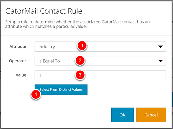 Condition Rule Types - GatorMail Contact