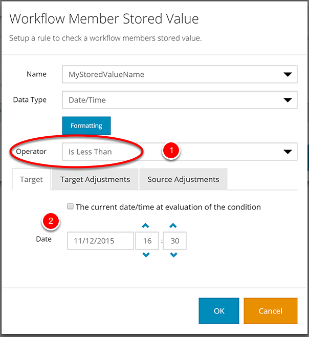 Workflow Member Stored Values for Date/Time