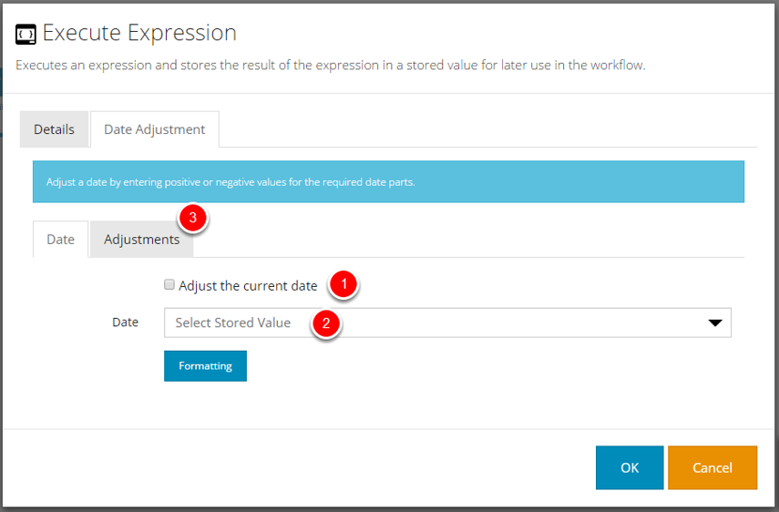 Execute Expression - Date Adjustment