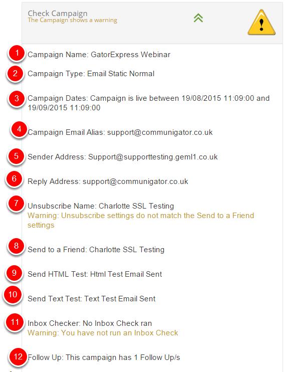 1. Check Campaign
