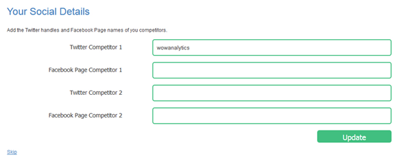 Deciding which competitor accounts to track.