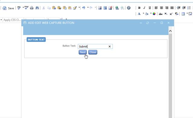 Name your web capture button