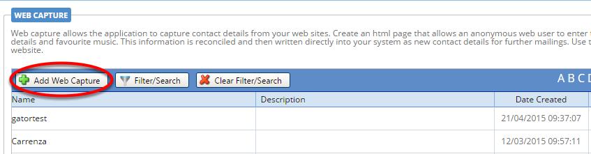 Create the Web Capture