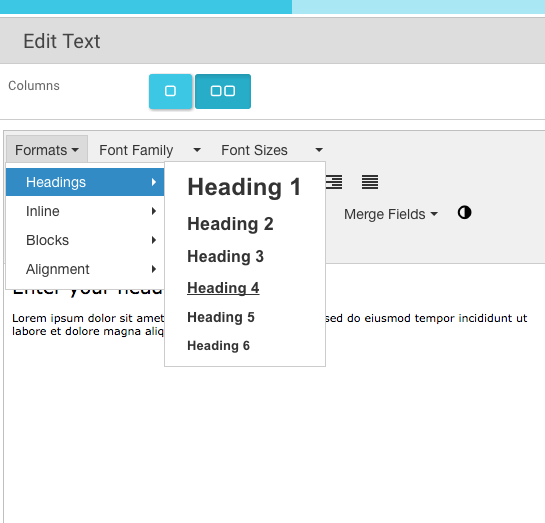 7.How can I change the editorheadings formats for 1-6 .....
